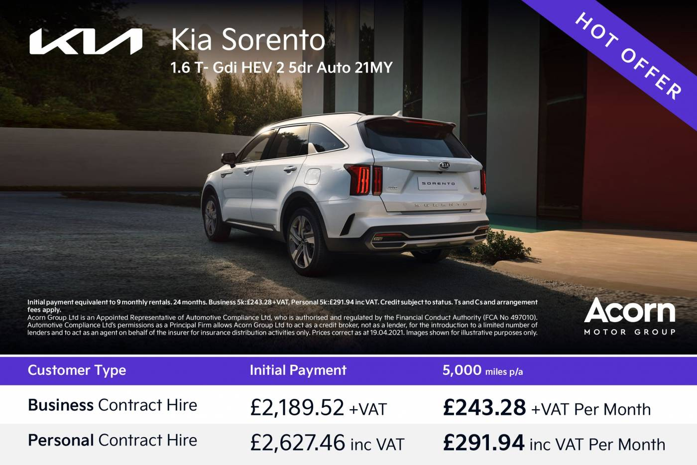 Kia -Hot Offer - weekly change